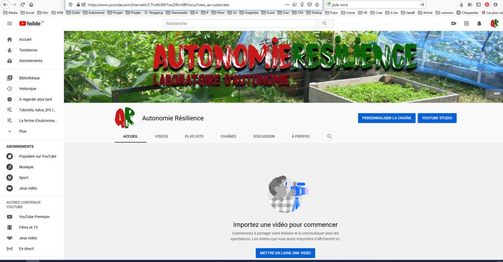 chaine youtube AR - La ferme d'Autonome le blaireau