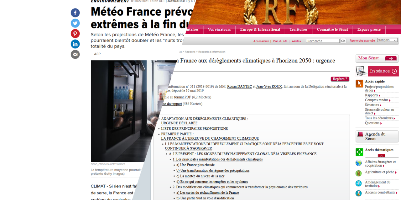 températures extrêmes, la France en 2050 et Corinne Morel darleu
